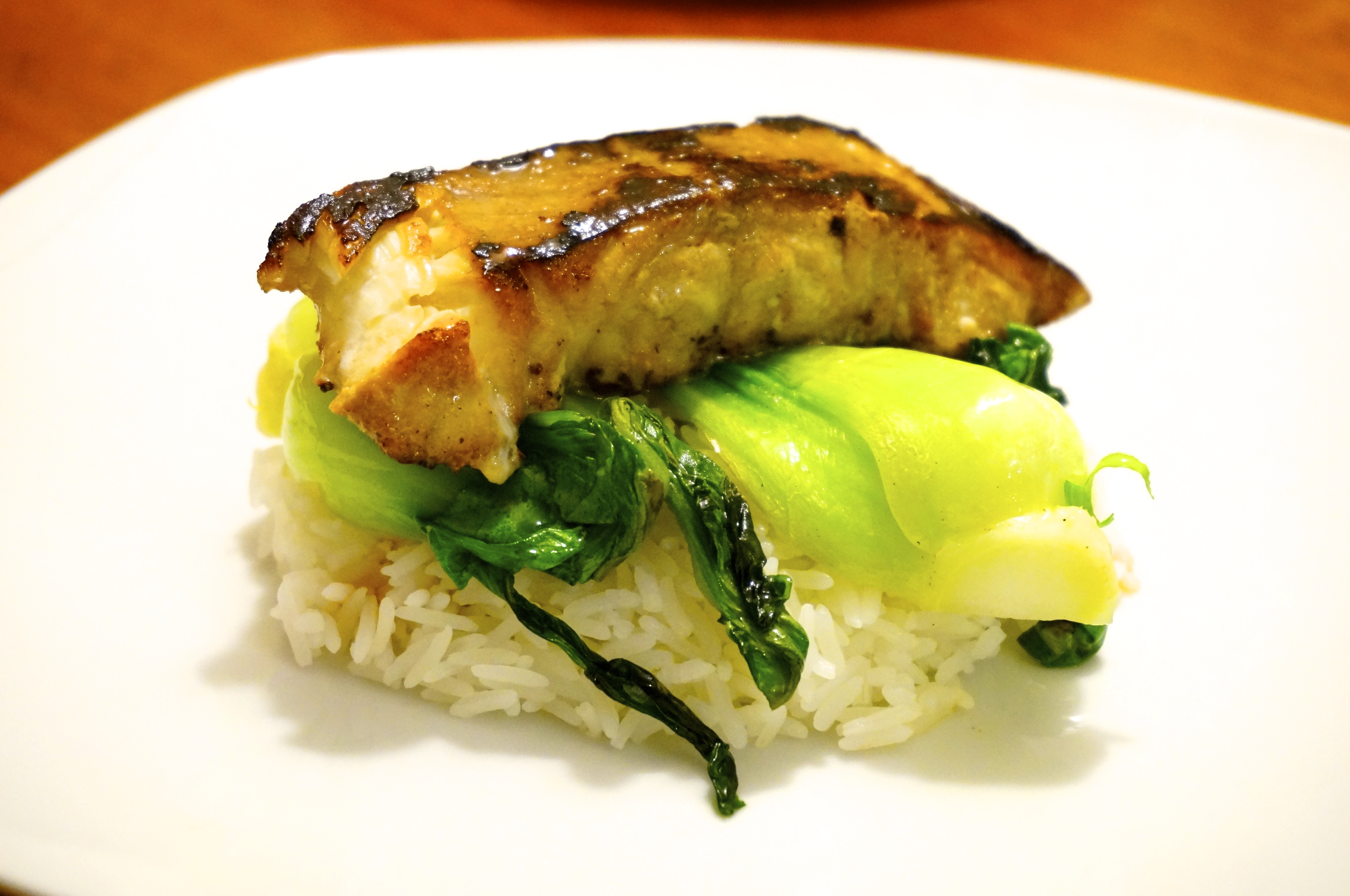 Pan fried cod over bok choy chivalrous cooking for How to cook cod fish in a pan